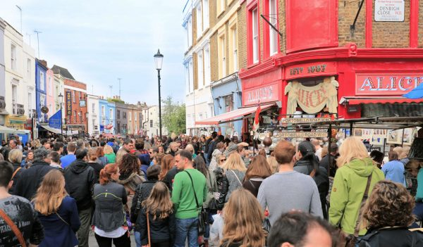 Portobello Market in full swing