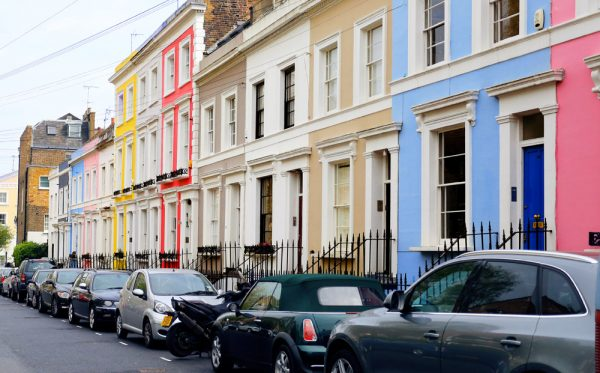 Notting Hill, Portobello Road houses